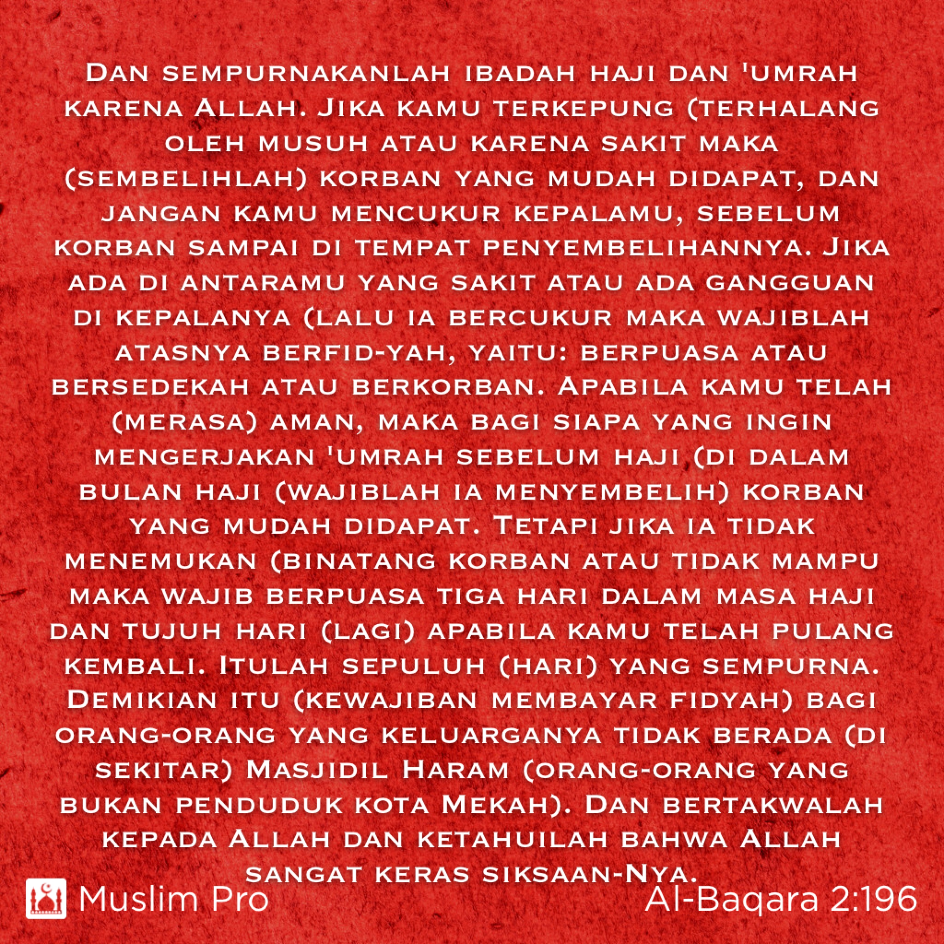 quote from the holy quran al baqara muslimpro